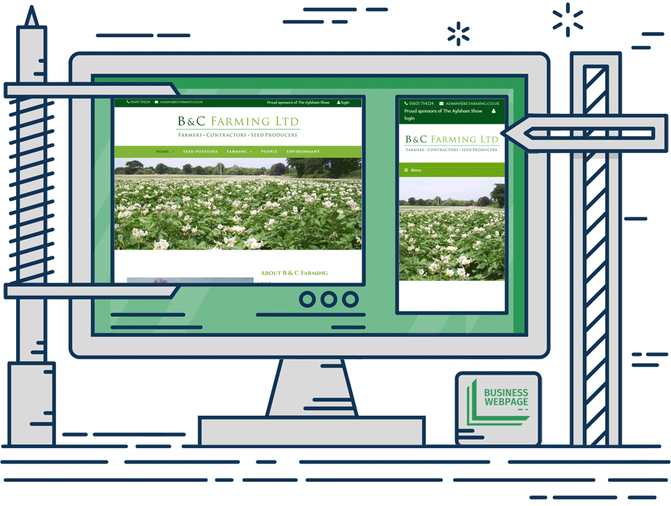 Updateable web design - BC Farming