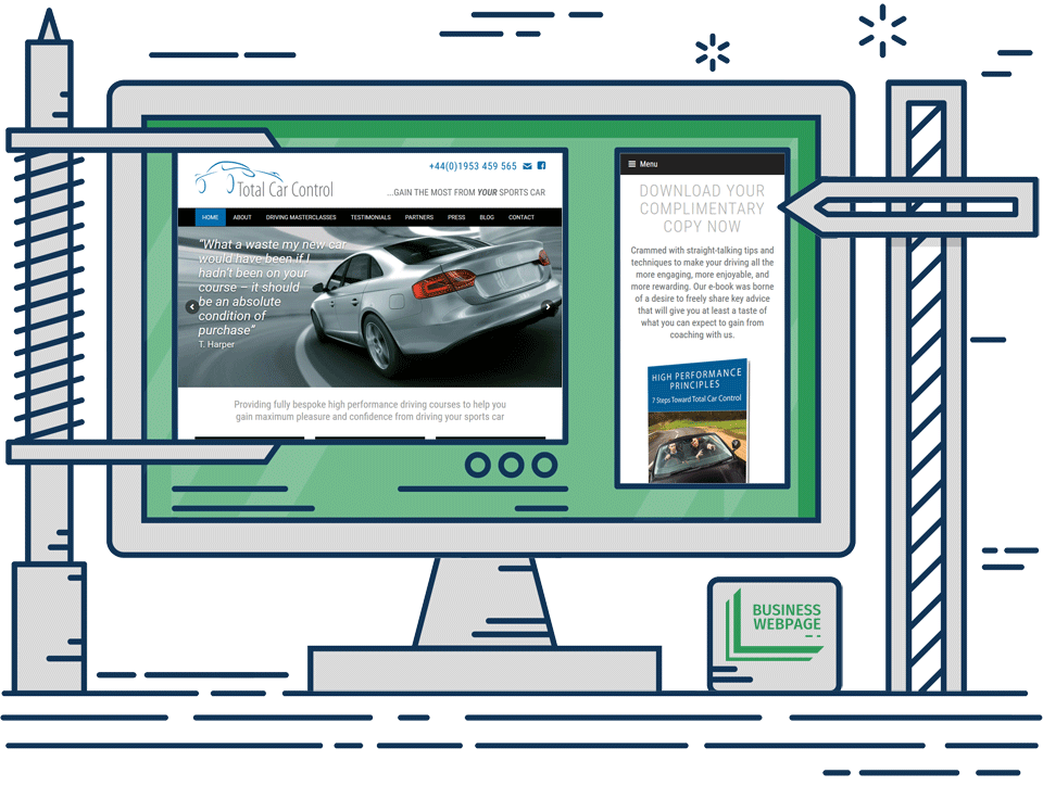 Bespoke Web Design - Total Car Control
