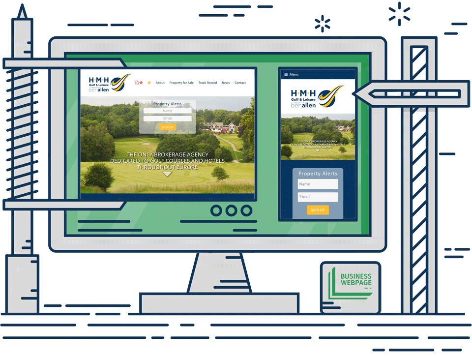 Bespoke Web Design - HMH Golf and Leisure