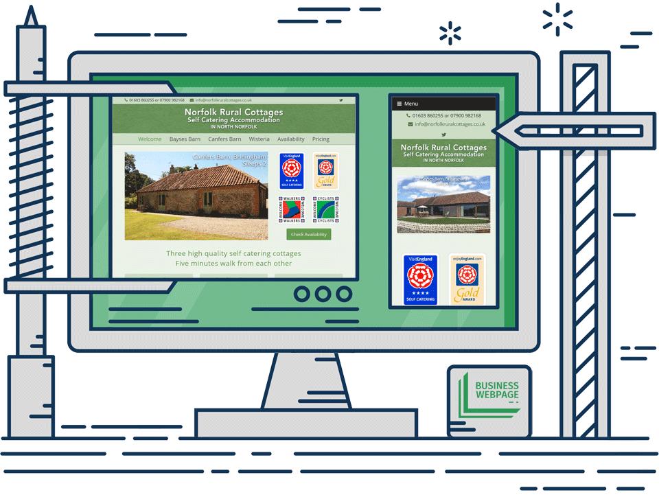 Holiday let web design - Norfolk Rural Cottages